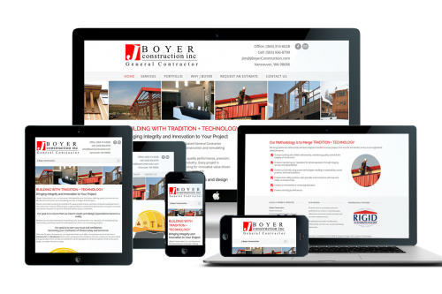 J Boyer Construction Responsive WordPress Website