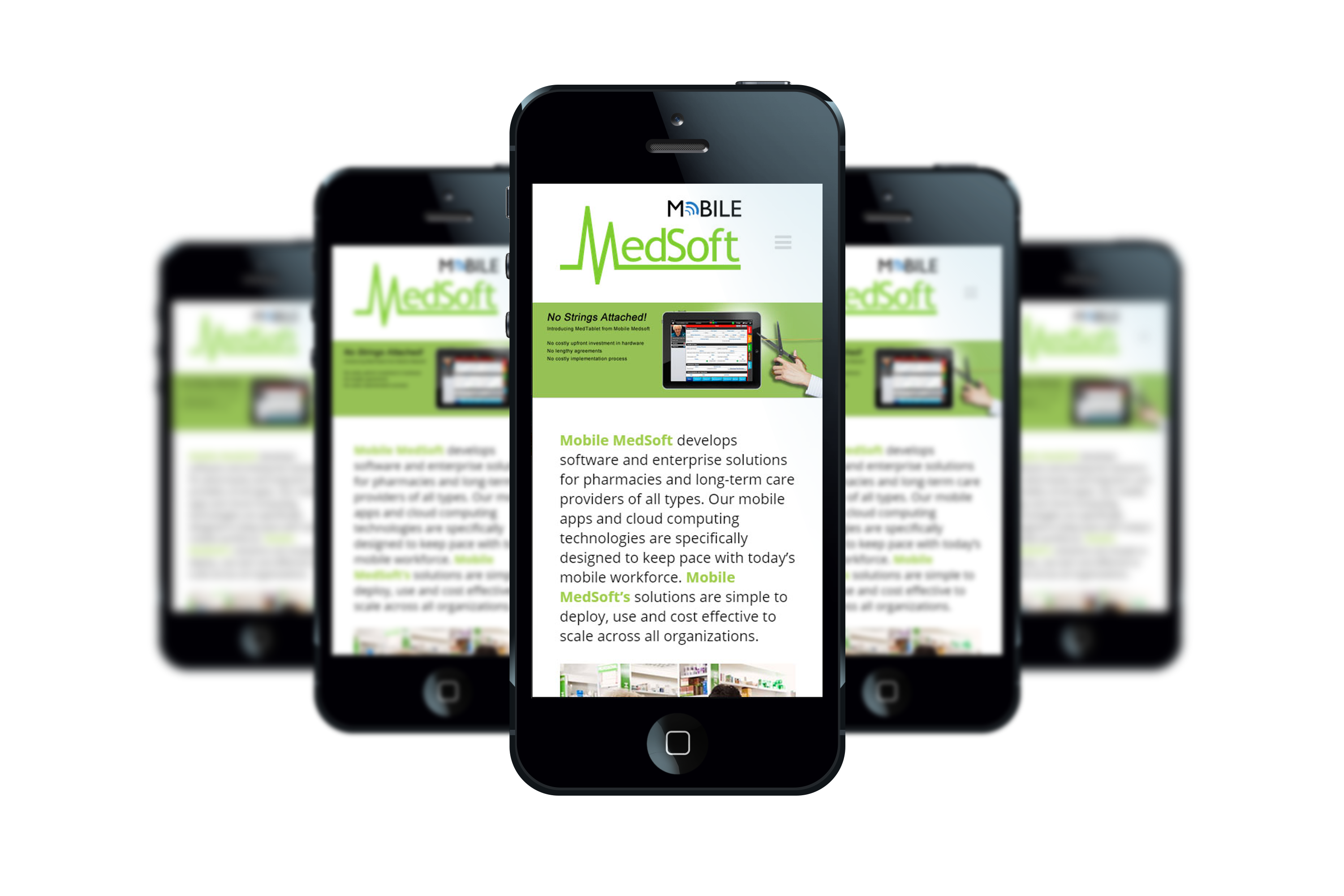 Mobile MedSoft iPhone Responsive WordPress Website