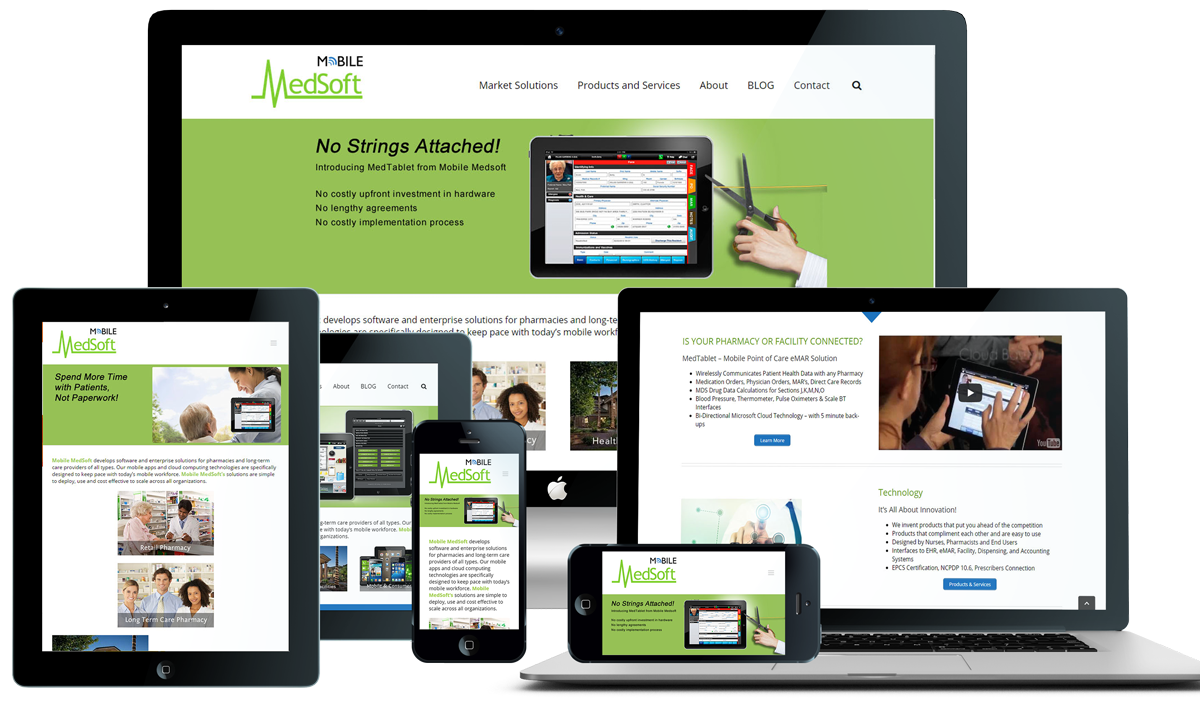 Mobile MedSoft Responsive WordPress Website